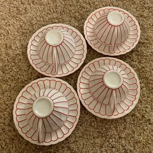 Anthropologie Tea Cups & Saucers